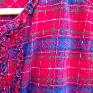 Lands End Red/Blue Plaid Flannel Tunic